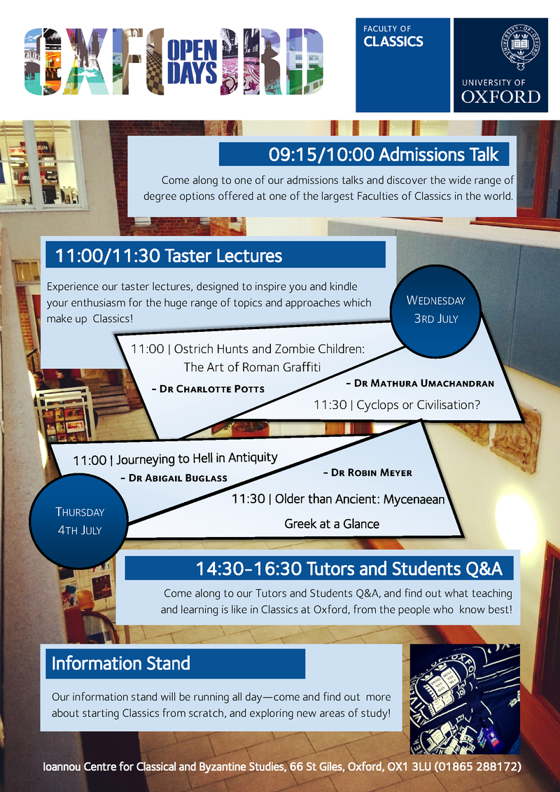 july open days poster 2019